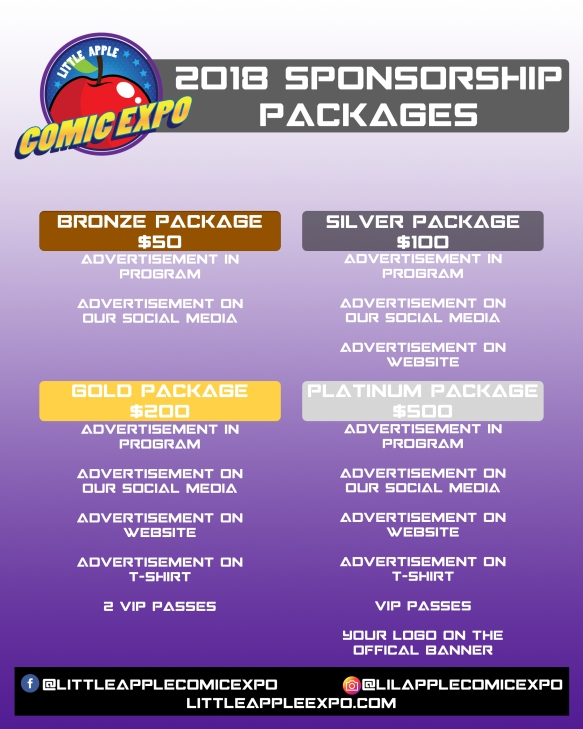 2018 sponsorship packages